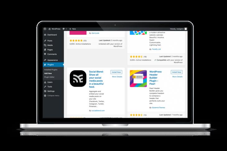 WordPress add plugin
